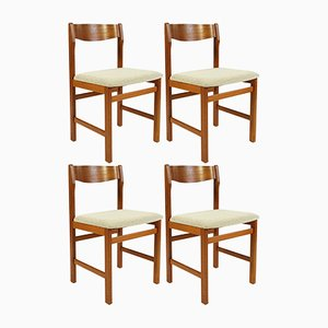 Teak Dining Chairs from Keravan Puusepät, 1960s, Set of 4