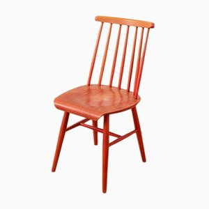 Mid-Century Beistellstuhl aus Holz, 1950er
