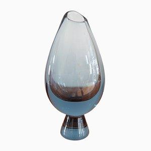 Vase en Verre Coloré par Vicke Lindstrand pour Kosta Boda, 1950s