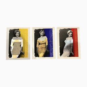 Juego de serigrafías de Marilyn Monroe vintage de Giuliano Grittini, años 80