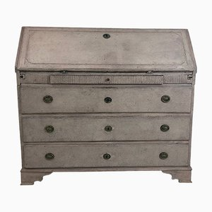 Antique Brass and Wood Secretaire