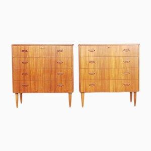 Mid-Century Swedish Teak Dressers, 1960s, Set of 2