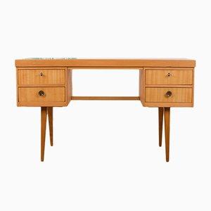 Deutscher Mid-Century Schreibtisch aus Eschenholz, 1950er