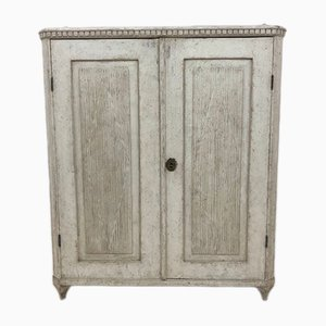 Antique Gustavian Brass and Wood Sideboard