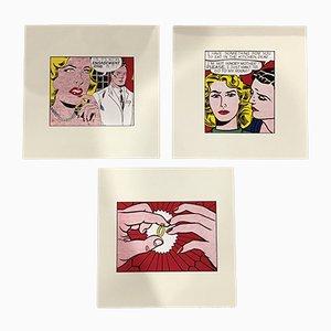 Carteles vintage de Roy Lichtenstein, 1962. Juego de 3
