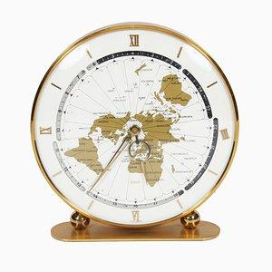 Horloge de Bureau Mid-Century en Laiton de Kundo, Allemagne, 1960s