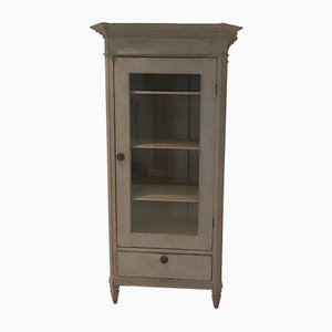 Antique Gustavian Brass and Glass Cabinet