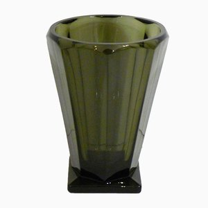 Art Deco Smoked Glass Vase, 1920s