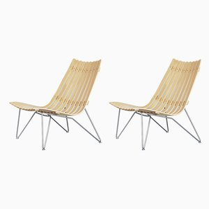 Norwegian Scandia Easy Chairs by Hans Brattrud for Fjordfiesta, 2000s, Set of 2