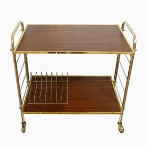 Vintage Metal and Wood Trolley, 1970s