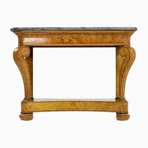 Consola francesa antigua de fresno