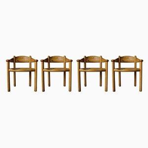 Chaises de Salle à Manger en Pin Massif par Rainer Daumiller pour Hirtshals Savværk, Danemark, 1960s, Set de 4