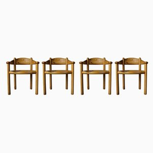 Danish Solid Pine Dining Chairs by Rainer Daumiller for Hirtshals Savværk, 1960s, Set of 4