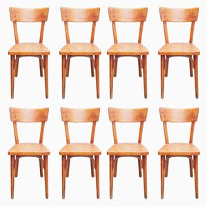 Bentwood Bistro Chairs from Baumann, 1950s, Set of 8