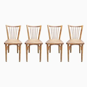 Model 82 Bistro Dining Chairs from Baumann, 1950s, Set of 4