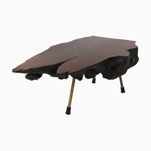 Tavolo grande in noce creato da un tronco di Carl Auböck, anni '50