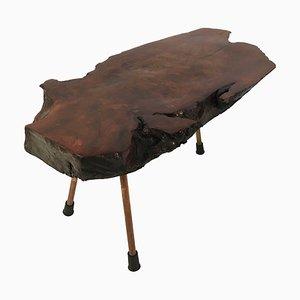 Tavolo Baule in noce creato da un tronco di Carl Auböck, anni '50
