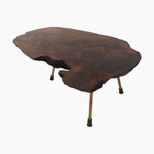 Tavolino da caffè creato da un tronco di Carl Auböck, anni '50