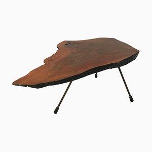 Tavolo in noce creato da un tronco di Carl Auböck, anni '50