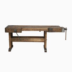 Industrieller deutscher Vintage Werktisch aus Eichenholz , 1920er
