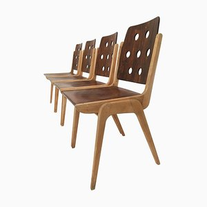 Stacking Chairs by Franz Schuster, 1950s, Set of 4