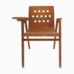 Stadthallen Chair with Writing Desk by Roland Rainer, 1950s