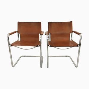 Cantilever Visitor Side Chairs from Matteo Grassi, 1970s, Set of 2