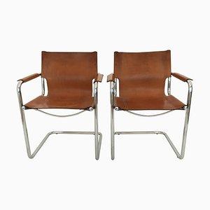 Freischwingende Visitor Beistellstühle von Matteo Grassi, 1970er, 2er Set