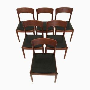 Esszimmerstühle aus Teak von Kai Kristiansen für Korup Stolefabrik, 1960er, 6er Set