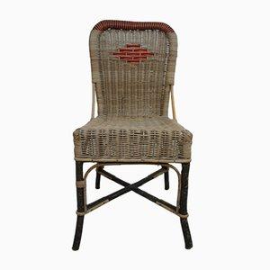 Stuhl aus Rattan, 1950er