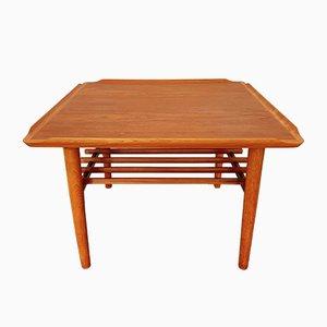 Table Basse en Teck par Holger Georg Jensen pour Kubus, Danemark, 1960s