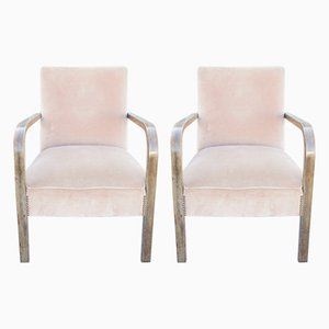 Mid Century Bentwood Lounge Chairs, 1920s, Set of 2