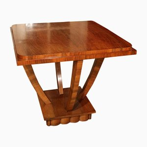 Vintage Art Deco Walnut Coffee Table, 1920s