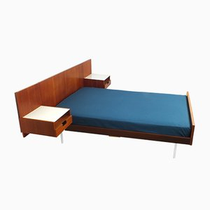 Teak Japanese Series Bed by Cees Braakman for Pastoe, 1950s
