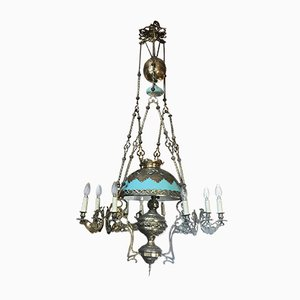 Antique Baroque Bronze Chandelier
