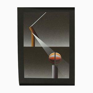 Französisches Vintage Lithografie Poster von Julio Le Parc