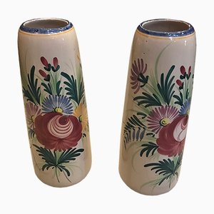 French Porcelain Vases from Saint Clément, 1930s, Set of 2