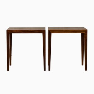 Scandinavian Modern Danish Rosewood Side Tables by Severin Hansen for Haslev Møbelsnedkeri, 1960s, Set of 2
