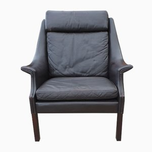 Mid-Century Danish Leather Lounge Chair, 1960s