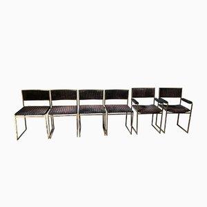 Chaises par Willy Rizzo pour Maison Jansen, Italie, 1970s, Set de 6