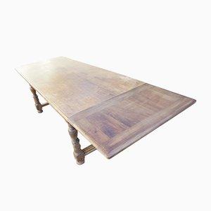 Table de Ferme Antique en Noyer à Rallonge