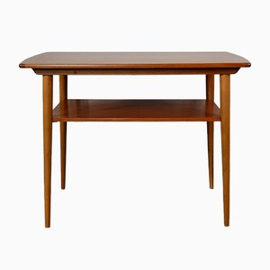 Mid-Century Norwegian Double Top Teak Side Table, 1960s