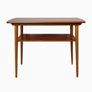Tavolino Mid-Century in teak con doppio ripiano, Norvegia, anni '60