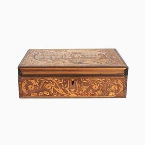 Antike französische Box mit Intarsien