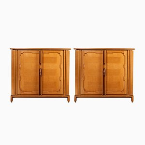 Modernist French Chene Sideboards by Maurice Pré, 1947, Set of 2