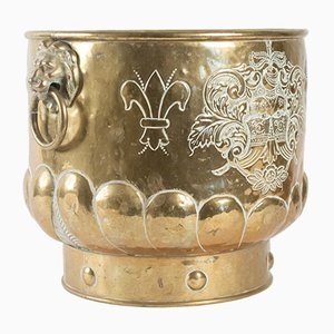 Antique Brass Flower Pot