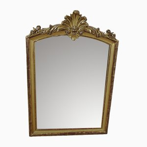 Antique Gold Leaf Crested Mirror