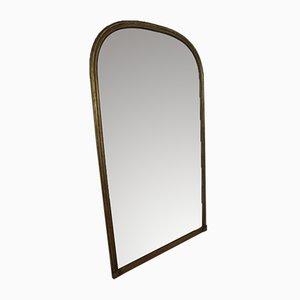 Antiker gewölbter Kaminaufsatz-Spiegel