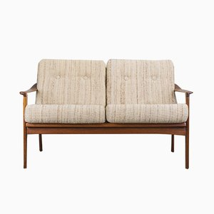 Vintage Danish Teak 2-Seater Sofa, 1970s