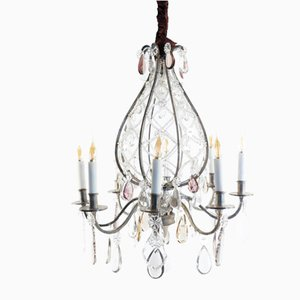 Antique Silvered Bronze Chandelier